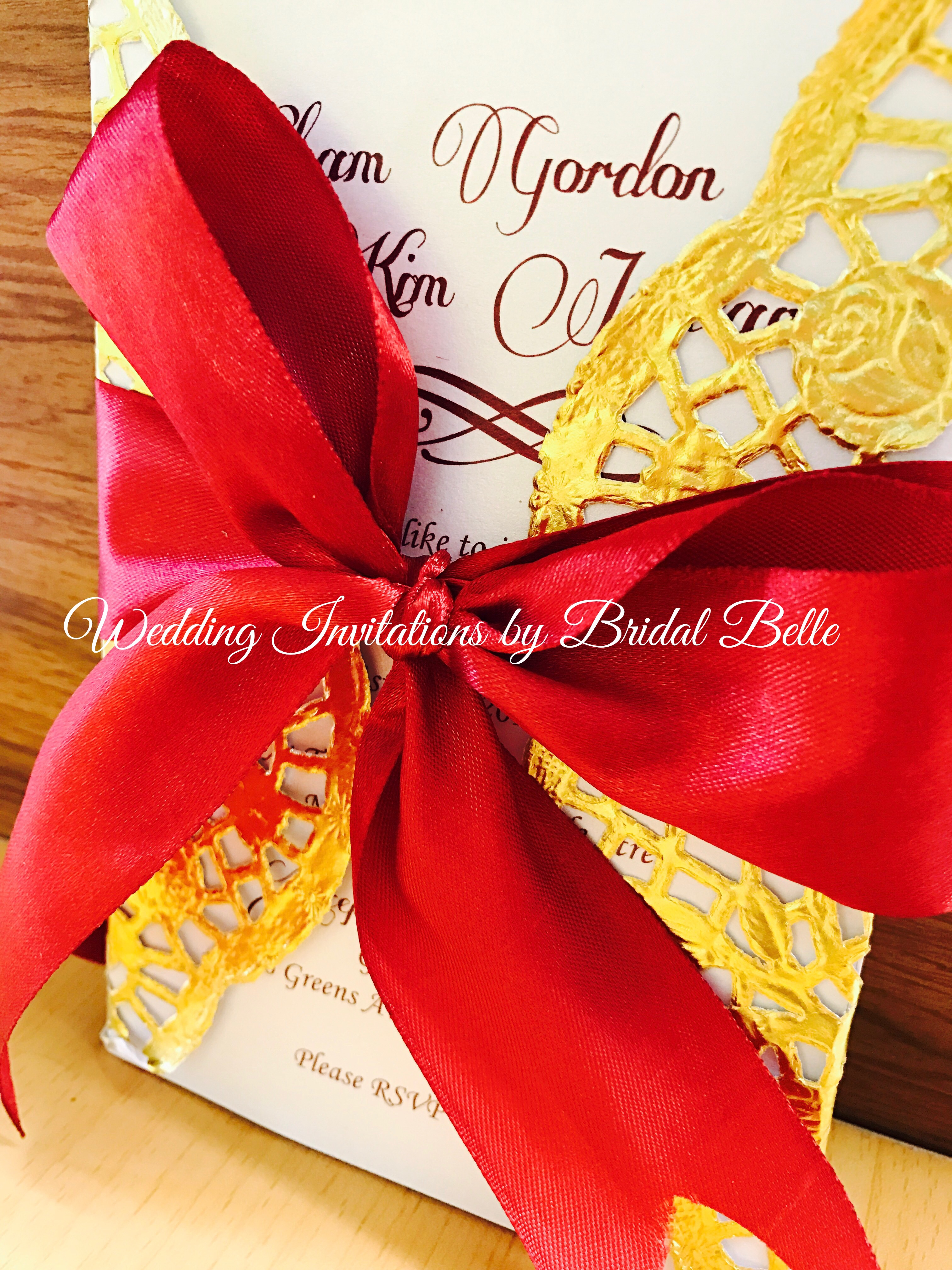 Doily Wrapped Wedding Invitations – Wedding Invitations by Bridal Belle