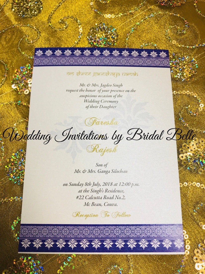 Hindu and Muslim Wedding Invitations – Wedding Invitations by Bridal ...